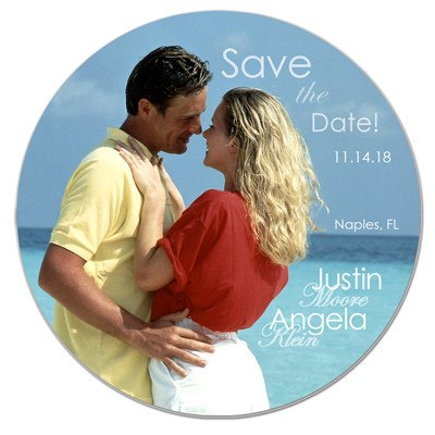 Round Photo Wedding Magnet | In the Round | MAGNETQUEEN