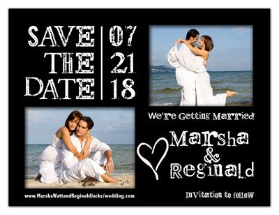 2 Photo Save The Date Magnet | Lucky Ones | MAGNETQUEEN
