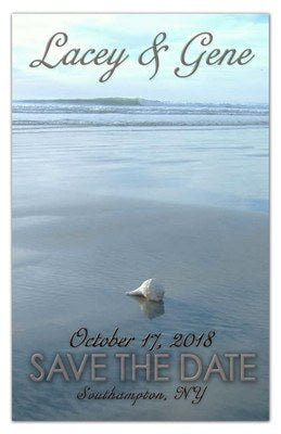 Save the Date Beach Magnets | Seashell on the Beach | MAGNETQUEEN