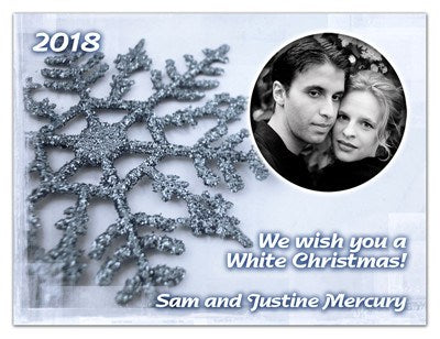 Christmas Greeting Photo Magnets | Snowflake | MAGNETQUEEN
