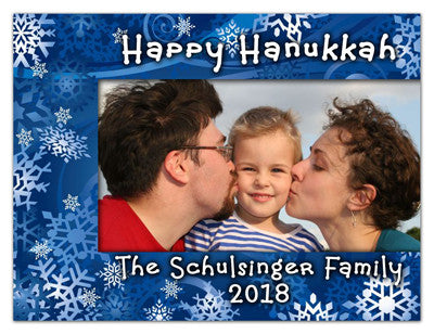 Hanukkah Photo Magnets | Hanukkah Snowflakes