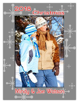 Personalized Holiday Magnets | Winter Greeting| MAGNETQUEEN