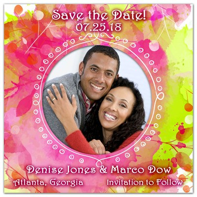 Wedding Save the Date Magnet | Spring Colors | MAGNETQUEEN