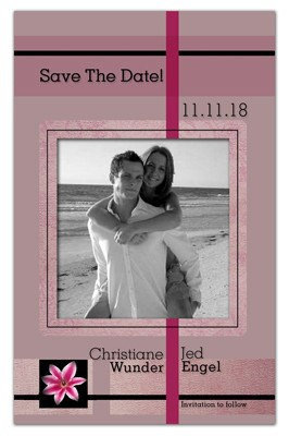 Affordable Save the Date Magnets | Stargazer BW Photo - MAGNETQUEEN
