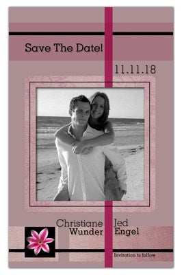 Affordable Save the Date Magnets | Stargazer BW Photo