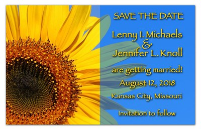 Sunflower Save the Date Magnet | Sunflower Transparency | MAGNETQUEEN