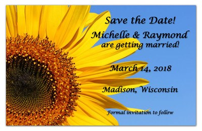 Sunflower Save The Date Magnet | Sunflower Up Close | MAGNETQUEEN