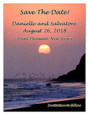 Save the Date Beach Sunset Magnets | Sunset | MAGNETQUEEN