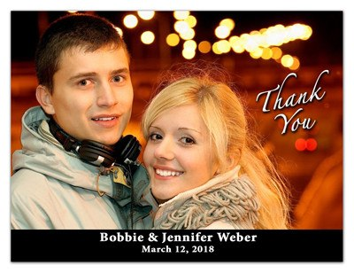 Wedding Thank You Photo Magnets | Black Bar | MAGNETQUEEN