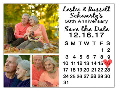 Anniversary Calendar Photo Magnets | Calendar With Three | MAGNETQUEEN