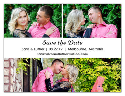 Three Photo Save The Date Magnets | Precious Love | MAGNETQUEEN