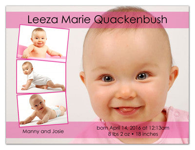 Baby Fridge Photo Magnets | Three Plus One Girl | MAGNETQUEEN