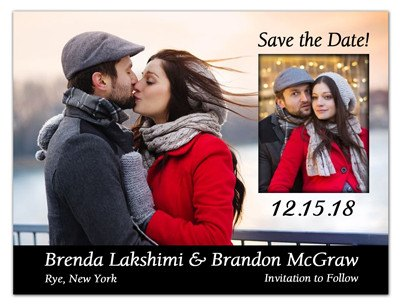2 Photo Save The Date Magnets | Wedding Wonderland - MAGNETQUEEN