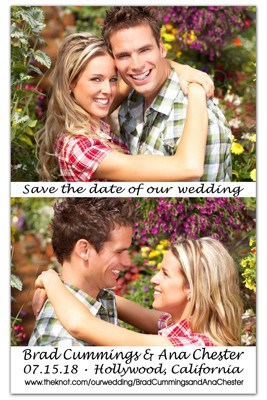 Save the Date Magnet | Vertical Love Photos | MAGNETQUEEN