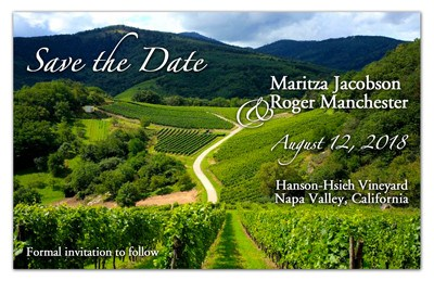 Vineyard Save the Date Magnets | Vineyard
