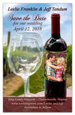 Save the Date Magnets | Vineyard Photo | MAGNETQUEEN