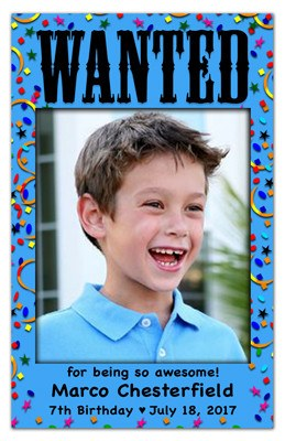 Photo Magnet Invitations | Wanted Boy | MAGNETQUEEN