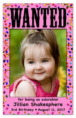 Birthday Photo Magnets | Wanted Girl | MAGNETQUEEN