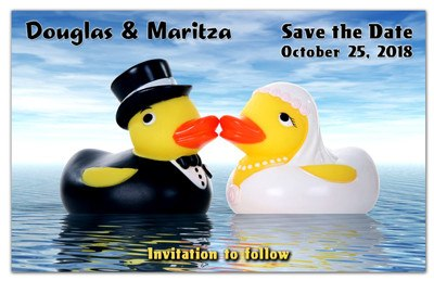 Fun Save the Date Magnets | Fun Ducks | MAGNETQUEEN