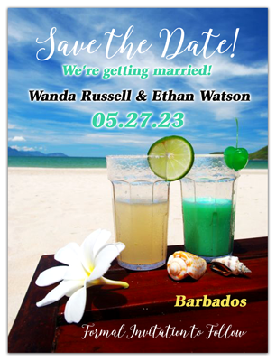 Our Destination Wedding Save The Date Magnets Tropical Refreshing