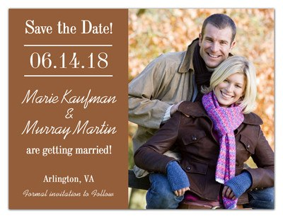 Photo Wedding Save The Date Magnets | Forever | MAGNETQUEEN