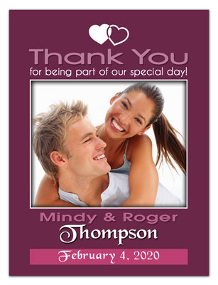 Wedding Thank You Photo Magnets | Two Hearts