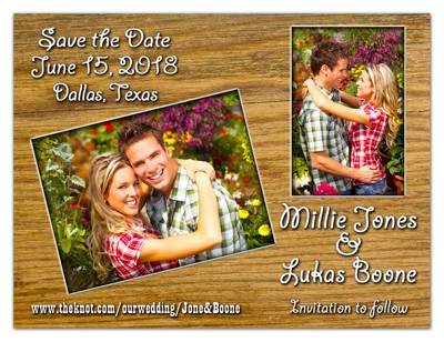 Save the Date Magnet | Western Theme With Photo | MAGNETQUEEN
