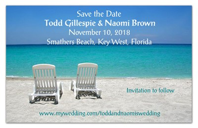 Tropical Beach Wedding Magnet | Two Chairs