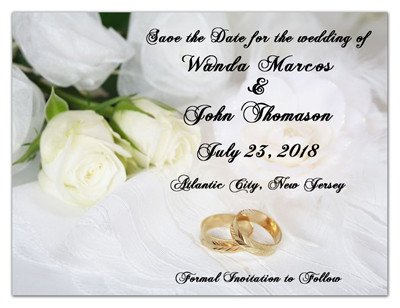 White Rose Wedding Magnet  | White Rose On White | MAGNETQUEEN