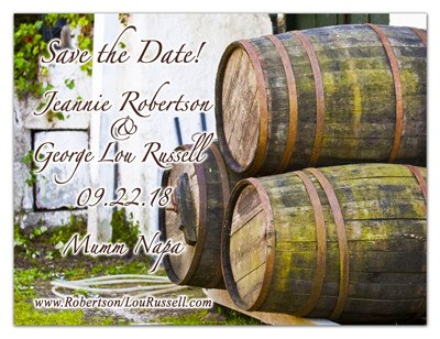 Save the Date Magnets | Wine Barrels