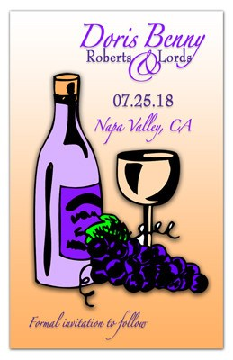 Wine Save The Date Magnets | Sketch | MAGNETQUEEN
