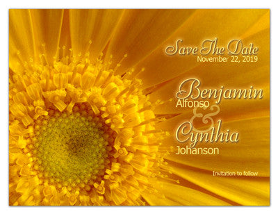 Flower Save The Date Magnets | Yellow Daisy
