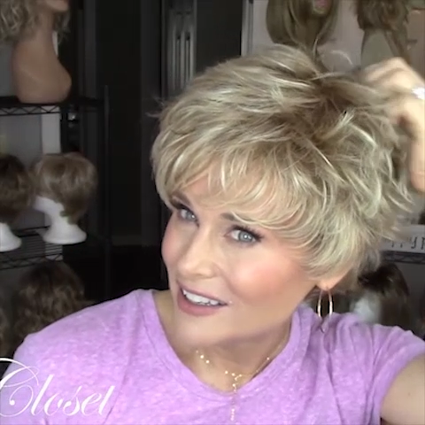 Romantic Gold Short Wig