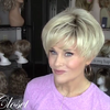 Light Gold Short Wig (Hair Root Black)