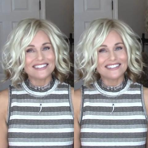 Casual Light Gold Bob Volume Wig