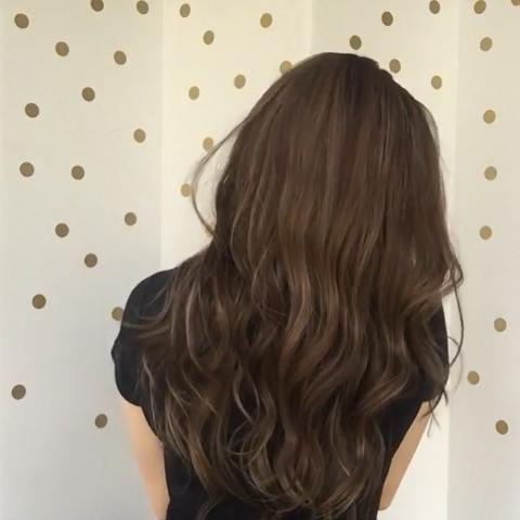 Romantic Fashion Cold Brown Long Wave Wig