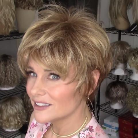 Fashion Romantic Love Gold Short Wig