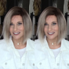 Fashion Gradient Grandma Gray Bob Straight Wig