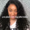 Prepluck Shining Curly Hair-140%(Extra Thick As In Video)