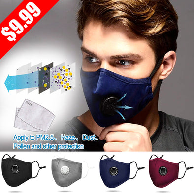 Excellent Breathability & Extra Comfort - 50% OFF (Per 1pcs Get 2 Filter Gasket Free)