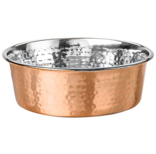 Load image into Gallery viewer, Dog Food and Water Bowl Rose Gold - Poshtails