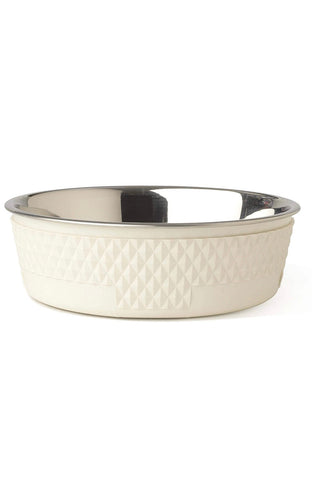 Dog Food and Water Bowl White - Poshtails