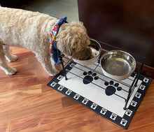Load image into Gallery viewer, Dog Food and Water Bowl White - Poshtails