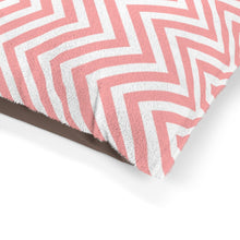 Load image into Gallery viewer, Pastel Pink Chevron Plush Dog Bed - Poshtails
