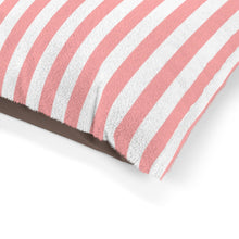 Load image into Gallery viewer, Pastel Pink Striped Plush Dog Bed - Poshtails