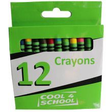 Load image into Gallery viewer, Cool 4 School Wax Crayons 8mm - Beaux-Arts Kidz Kraftz