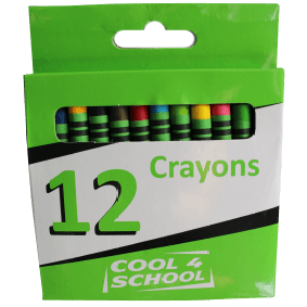 Cool 4 School Wax Crayons 8mm - Beaux-Arts Kidz Kraftz