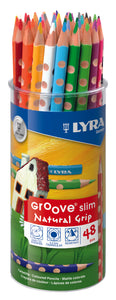 Lyra Groove Slim Natural Grip - 48 units - Beaux-Arts Kidz Kraftz
