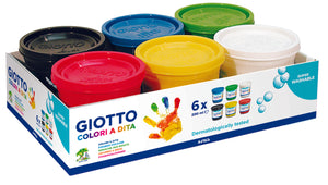 Giotto Finger Paint 6 x 200ml - Beaux-Arts Kidz Kraftz