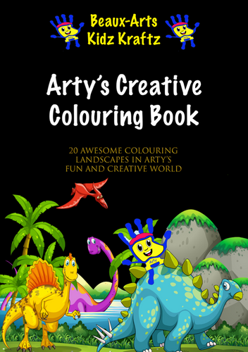 Arty's Creative Colouring Book - Beaux-Arts Kidz Kraftz
